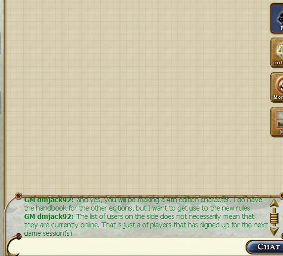 RPGTable Chat   Box