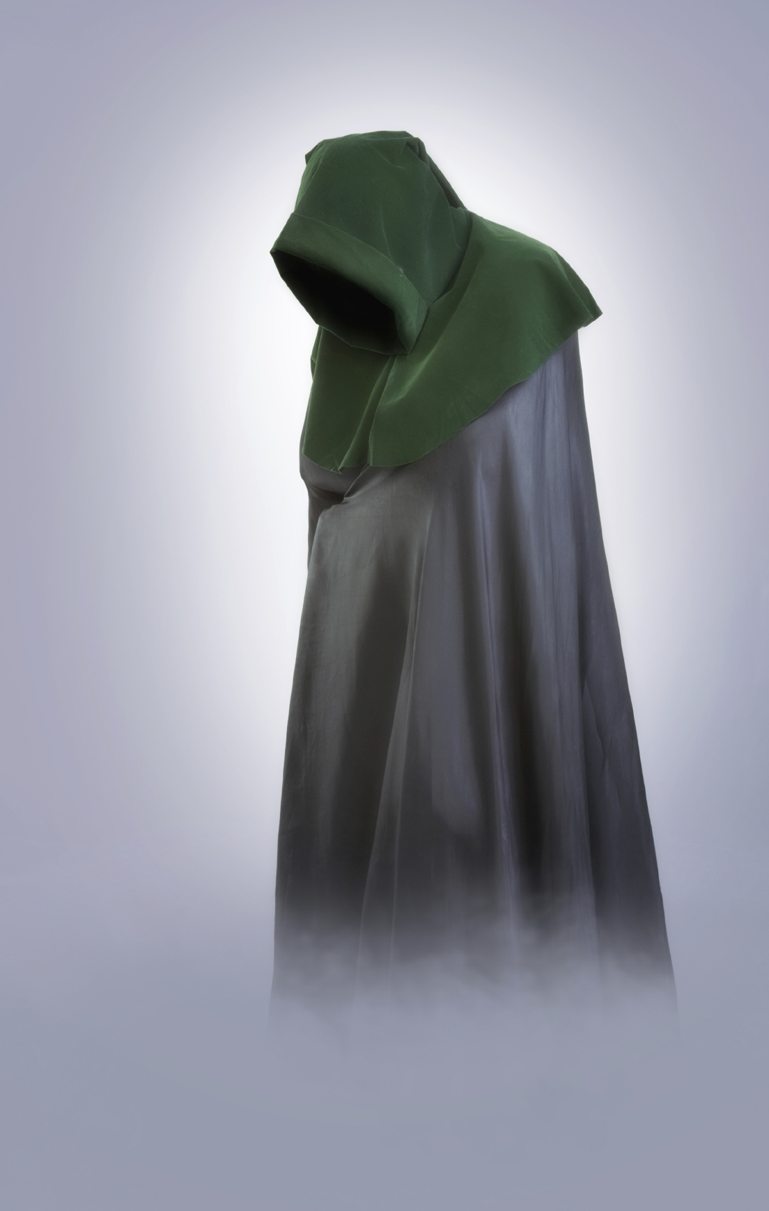 person in cloak
